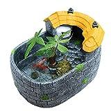 Xuejuanshop—Peceras Creative Retro Original Fish Tank Aquarium Inicio Aquarium Turtle Tank (tamaño : M)