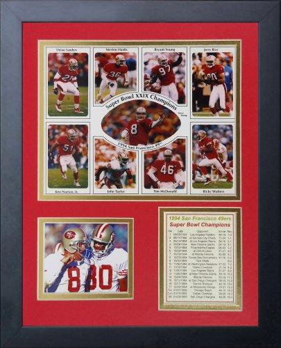 San Francisco 49ers NFL Framed 8x10 Photograph Team Logo and Football Helmet Collage