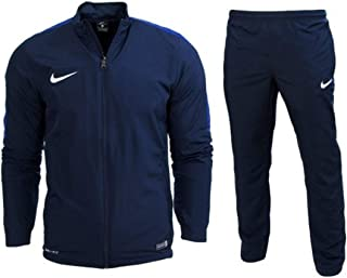 54f49a06f7863 Nike Mens Academy 16 Knit Dri Fit Navy Blue White Football Warm Up Full  Tracksuit