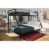 Dorel Twin-Over-Full Metal Bunk Bed, Multiple Colors