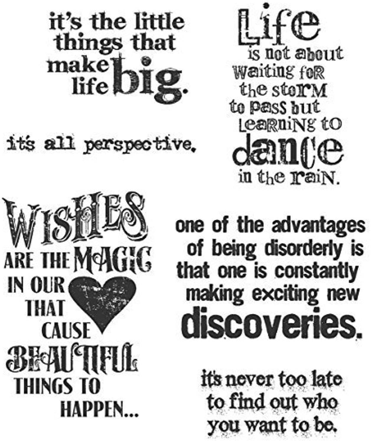 Tim Holtz 7 x 8.5inch Cling Rubber Stamp Set Good Thoughts by Stampers Anonymous