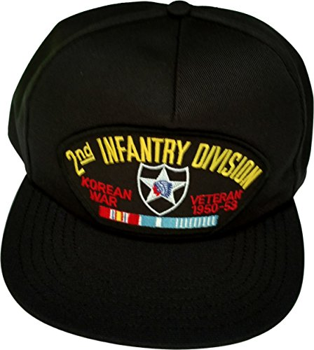 US Army 2nd Infantry Division Korea Veteran with Ribbons Ball Cap schwarz