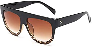 Flat Top Oversized Aviator Retro Celebrity Sunglasses