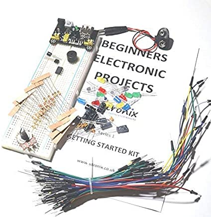 UTRONIX Beginners Electronic Starter Kit including projects and components Ideal for students