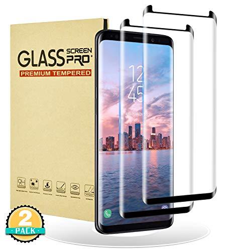 RIIMUHIR Glazen Screenprotector voor Samsung Galaxy S9, 3D Full Cover Glazen Screenprotector voor Galaxy S9, [2 stuks] [Shell-vriendelijke] Film voor Samsung Galaxy S9