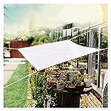GFSD Toldo Vela de Sombra, Vela de Sombra Rectangular HDPE, Toldo Vela Parasol Protección Rayos UV YToldo Resistente para Patio, Exteriores, Jardín (Color : White, Size : 1x1.5m)