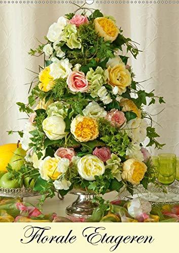 Florale Etageren (Wandkalender 2020 DIN A2 hoch): Florale Etageren für jede Jahreszeit (Monatskalender, 14 Seiten )