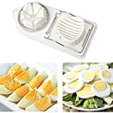 Egg Slicer Cutter,2 in 1 Stainless Steel Cutting Wires Egg Slicer Multi Purpose