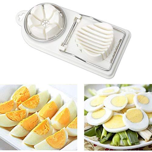 Egg Slicer Cutter,2 in 1 Stainless Steel Cutting Wires Egg Slicer Multi Purpose Slicer