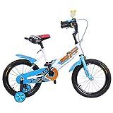 Ridgeyard 16 pouces Vélo Enfant Étude d'apprentissage équitation vélo garçons filles vélo avec stabilisateurs Vélo pour Enfant de 3 à 5 ans(bleu)