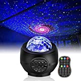 Star Projector Light, LED Night Light Sky Star Galaxy Ocean Wave Projection with Bluetooth Speaker Voice Control for Baby Kids Bedroom Holidays Party Home