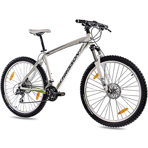 CHRISSON 27,5 Zoll Mountainbike Hardtail - 27,5er Weiss - Hardtail Mountain Bike mit 24 Gang Shimano Acera Kettenschaltung - MTB Fahrrad für Herren und Damen Suntour Federgabel