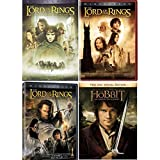 Lord of the Rings Trilogy (8 Disc DVD Set): The Fellowship Of the Ring / The Two Towers / The Return of the King) + Hobbit An Unexpected Journey - Elijah Wood, Ian McKellen, Liv Tyler, Viggo Mortensen