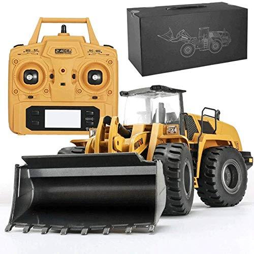 WANGCH 1:14 Excavadora hidráulica Aleación Vehículo de ingeniería Gran Excavadora eléctrica de Control Remoto Modelo RC Juguete Niños Coche de Control Remoto Camión de Carga de Control Remoto Grande
