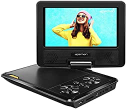APEMAN 9.5'' Portable DVD Player for Kids and Car with 7.7'' HD Swivel Screen Support SD Card USB CD DVD with AV Input/Output and Earphone Port, Remote Control, 5 Hours Rechargeable Battery