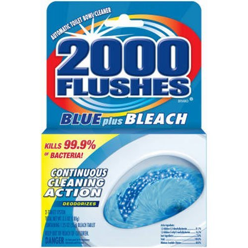 2000 FLUSHES-20801 Blue Plus Bleach Automatic Toilet Bowl Cleaner, 3.5 OZ ( Pack Of 1 )