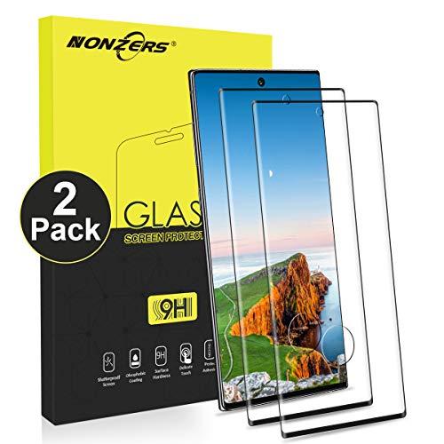 NONZERS Verre Trempé pour Samsung Galaxy Note 10, [2 Pack] Vitre Protection 9H Dureté, Film Protection écran pour Samsung Note 10, Anti Rayure Sans Bulles, Note 10 Verre Trempé Protecteur d'écran
