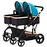 Jogging Stroller, Fold City Baby Pushchair, Double Toddler Baby Pram,Jogging Compact Urban Strollers,Foldable