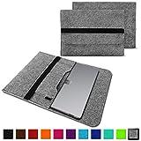 NAUC Laptop Tasche Hülle für Microsoft Surface Book 2 Filz Sleeve Schutzhülle Notebook Case 15 Zoll Cover Schutz Bag mit Innentaschen & sicheren Verschluss, Farbe:Grau