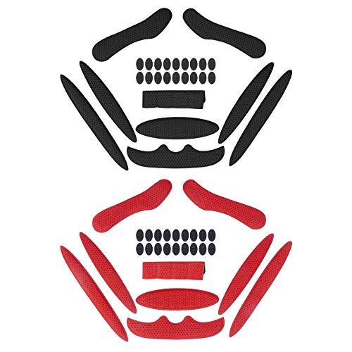 Himetsuya Magic Stick Almohadillas de Espuma para Casco 2 Juegos Forro anticolisión Protección de Esponja de Viscosa Cascos universales Almohadillas de Repuesto para Bicicleta Motocicleta eléctrica