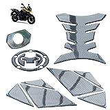 Etiqueta engomada de la decoración del Tanque de la Motocicleta Pegamento Suave Impermeable Autoadhesivo para Adhesivo de protección S-UZUKI DL250 Set de 5 Piezas,01