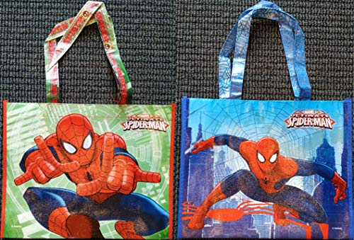 Marvel Ultimate Spider-Man DUE ESSE SRL Set di 2 Borsine Shopper Robuste Riutilizzabili e Impermeabili Misure 35 x 28 x 10 cm