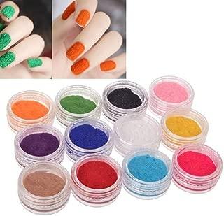 12 Colors Women Velvet Flocking Powder Nail Art Polish Fingernail Manicure Tools liyhh