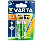 1 2 Volt 800 mAh im Blister beinhaltet: 2 Akkus (56736 101 402)NiMH Akku Rechargeable Accu Solar Mignon (AA) * aufladbar mit allen gängigen La