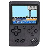 Come-buy Mini Retro Handheld FC Games Consoles ,Built-in 400 Classic Game, Portable Gameboy 3 Inch LCD Screen 1000mAh Rechargeable Battery TV Output (FIO-Black)