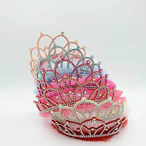 Cerceau à cheveux 6 Pièces Nouveau Style Strass Scintillant Couronne Bandeau Fille Cheveux Bande Accessoires Princesse Diadème Bandeau Enfants Chapeaux Fête