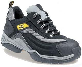 Caterpillar CAT Moor SB SRA Chaussures de sécurité pour homme avec coque en acier Noir/argenté