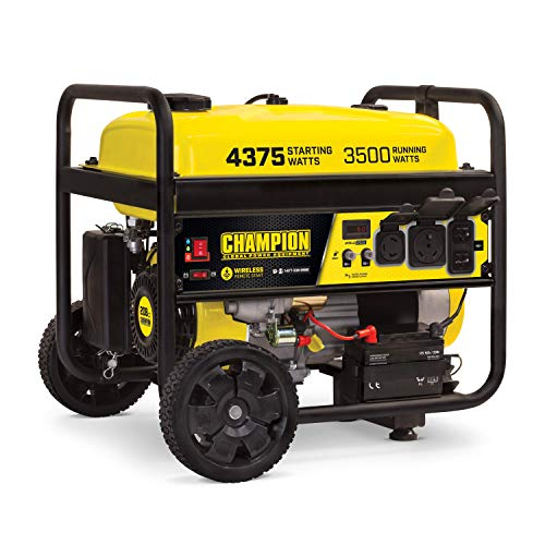 Champion Power Equipment 100554 3500-Watt RV Ready Portable Generator with Wireless Remote Start,...