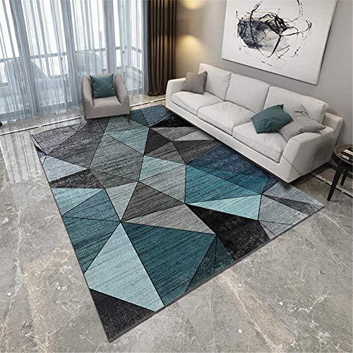 Kunsen Alfombra De Cocina Antideslizante Abstrakter Luxus großer Teppich Lila Gelbe Geometrie alfombras para Comedor Cómodo Alfombra de Sala de Estar Alfombra Antideslizante Lavable fác $ 80X80CM