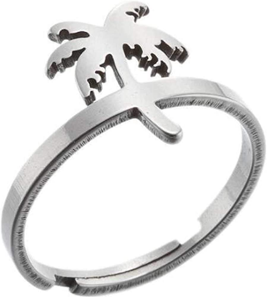 Jude Jewelers Stainless Steel Adjustable Size Animal Plants Star Moon Wedding Enagement Promise Statement Anniversary Ring