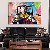 Hao Sai's shop Arte En Lienzo Lobo De Wall Street Wall Street Leonardo Dicaprio Money Art...