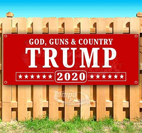 Heavy-Duty Vinyl Single-Sided with Metal Grommets Non-Fabric Trump Keep America Great 2024 13 oz Banner