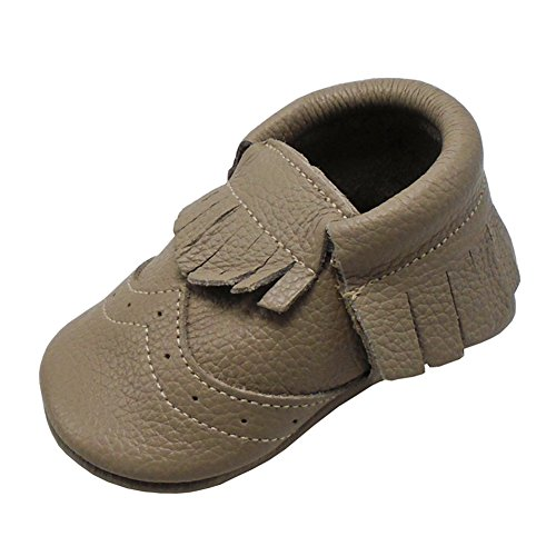 Mejale Chaussons en cuir à semelle souple pour bébé - - Bronze., 25/26 EU