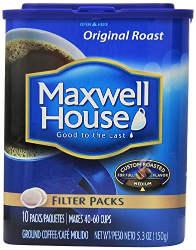 Maxwell House, Filter Packs, Original Roast, 10 Count, 5.3oz Container (Pack of 2)