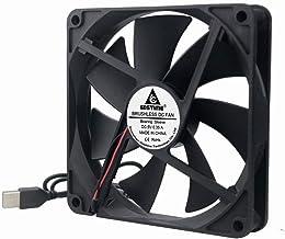 GDSTIME 140mm x 140mm x 25mm 5V USB DC Brushless Cooling Fan