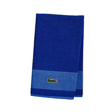 Lacoste Match Bath Towel, 100% Cotton, 600 GSM, 30 x52 , Surf Blue