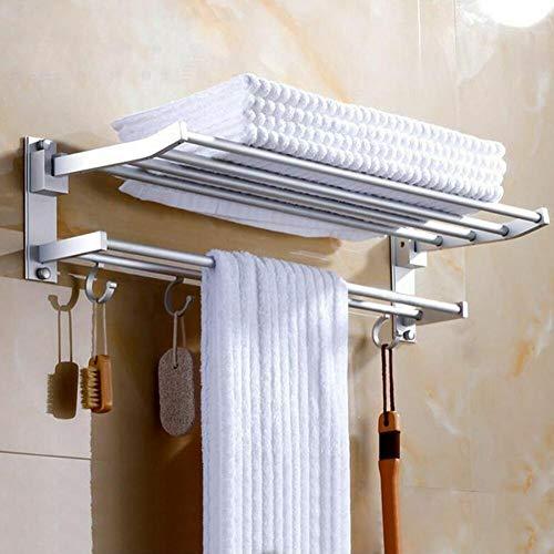 ZZYE 2-Tier montado en la Pared de baño Toalla Rack de Almacenamiento de suspensión Estante de la Cocina del Hotel Ropa Bastidores de Toallas torreta del Colgador (Size : 50cm)