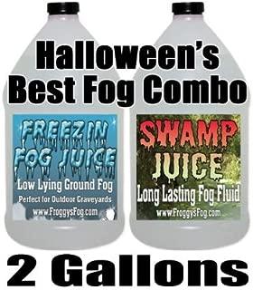 Froggys Fog -Swamp Juice and Freeezin Fog Fluid Combo - 2 Gallons - Long-Lasting Fog and Low-Lying Fog Combo
