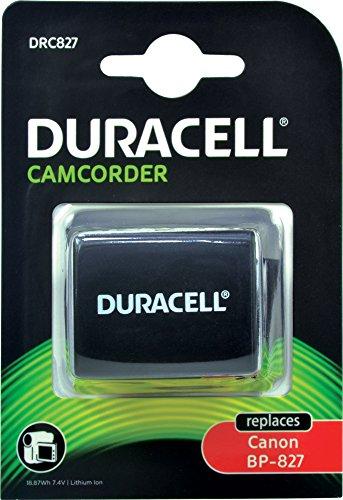 Duracell DRC827 - Batería de videocámara 7.4 V, 2550 mAh (reemplaza batería Original de Canon BP-827)