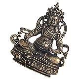 Milisten Estatua de Buda de Latón Escultura de Buda Sentado Decoración para La Fortuna Y La Salud Adorno de Feng Shui para La Oficina en Casa Decoración Zen Decoración de Jardín
