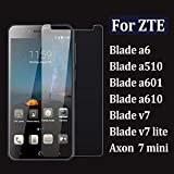 Haodong For zte Blade a6 Glass for zte axon 7 Mini Screen Protector 9h Tempered Glas a 610 510 601 v 7 Lite Protective 2.5d Protect Film(3 Pieces)-para Blade a6