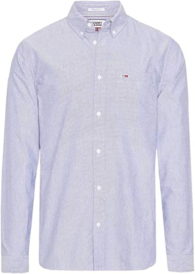 Tommy Hilfiger TJM Classics Oxford Shirt Camisa, (Black Iris ...