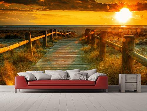 Oedim Tapetentapete für Strand   Fototapete für Wände   Tapete   Verschiedene Maße 500 x 300 cm   Dekoration für Esszimmer, Wohnzimmer, Wohnzimmer.
