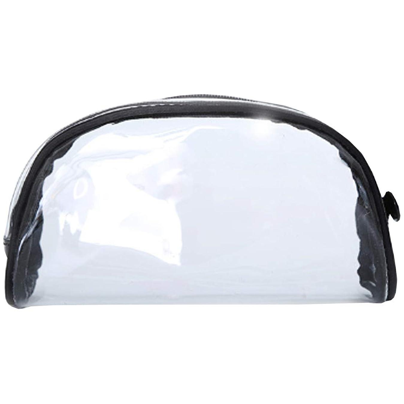 嘆く砂ジム化粧ポーチ クリアポーチ 透明ポーチ クリアボックス ビニールポーチ PVC 化粧品収納 小物入れ 防水 (S)