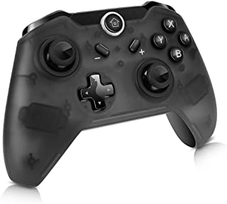 Lavuky XQ02 Switch 無線 コントローラー PC 対応 Switch ゲームパッド Nintendo Switch 互換 ワイヤレス コントローラー 振動機能搭載 ジャイロセンサー 6軸機能(Third Party Product)ブラック