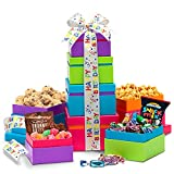 Broadway Basketeers Happy Birthday Wishes Gift Tower, 1 Count